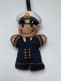 This cute little Gingerbread man has just been added to my website. #merchantnavy #cruiseshipcaptain #gingerbreadman #sailor #nautical Gingerbread Man Decorations, Gingerbread Ornaments, Police Gifts, Military Gifts, Birthday Presents For Men, Gifts For Sailors, Navy Uniforms, Letterbox Gifts, Merchant Navy