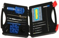 Paylak TS9070 Watch Band Repair Size Tools Watch Repair Kit Paylak. $32.95. Tool set come in compact storage case with handle. Quality made tools used to change watch batteries. Watch tool kit- screwdrivers, removers, pin pusher, holder, openers, hammer. Set includes tools used to adjust watch bands, straps and spring bar assortment. Tools to open most waterproof watch cases-case opener, knife. Save 45% Off!