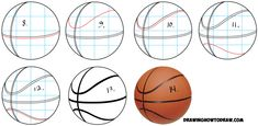 Learn How to Draw Basketballs in Simple Steps Drawing Lesson