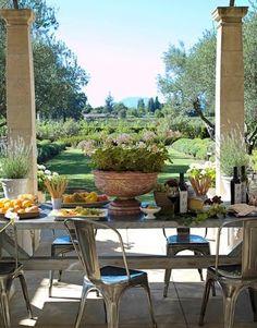 fresh air, beautiful view, yummy food and wine <3