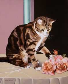 Michel Plaisir | OIL | The Cat Named Gribouille