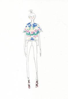 stella mccartney hawaii fashion illustration