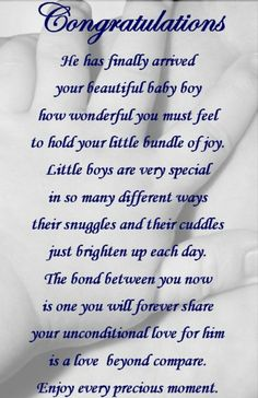 Best Ideas for baby boy congratulations quotes births Baby Boy Poems, Wishes For Baby Boy, Baby Boy Cards, Prayers For Baby Boy, Baby Boy Congratulations Messages, Baby Boy Messages, New Baby Quotes, Newborn Quotes, Mommy Quotes