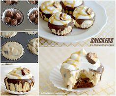 snickers ice cream cupcakes