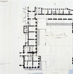 Fontainebleau, part first floor plan.