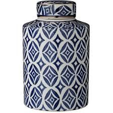 blue and white classic ginger jar