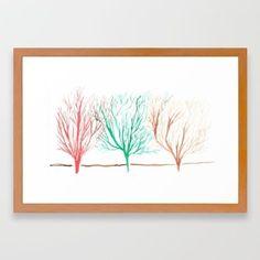 Small Framed 15 Watercolour Trees Home Decor Fine Art Giclee Print Decor Watercolor Artists, Abstract Watercolor, Abstract Print, Watercolour, Modern Art Paintings, Modern Art Prints, Framed Art Prints, Minimal Drawings, Minimalist Artwork