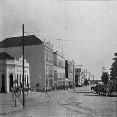 Uma parte da Av. Eduardo Ribeiro. Manaus. Álbum do Amazonas 1901-1902.