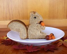 """A Squirrel  """"Shaped"""" Sandwich. Too Funny ;)"""