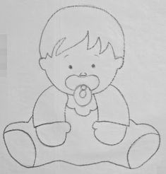 Cantinho arts da Mari                                                                                                                                                     Mais Baby Embroidery, Cross Stitch Embroidery, Machine Embroidery, Felt Patterns, Applique Patterns, Embroidery Transfers, Embroidery Designs, Moldes Para Baby Shower, Baby Clip Art