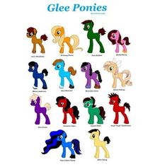 Glee Ponies, it's like this pin was made for me