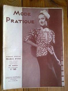 MODE PRATIQUE   11/04/1936 ensemble de louise boulanger