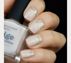 The 35 Prettiest Wedding Nail Colors - natural wedding nails with soft glitter accent Bridal Nails Designs, Bridal Nail Art, Nail Art Designs, Bridal Makeup, Wedding Nail Colors, Wedding Nail Polish, Neutral Wedding Nails, Blush Pink Nails, Picture Polish