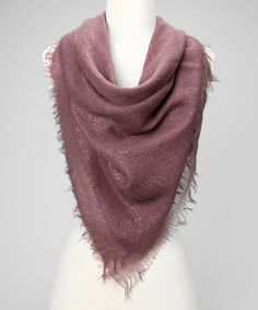 Take a look at this Mauve Scarf by All That Glitters: Women's Scarves on #zulily today!