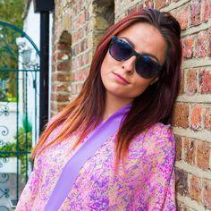 Colourful & cool in the Floracion de la Esperanza kimono by Liz Nehdi   Notting Hill, London 2016
