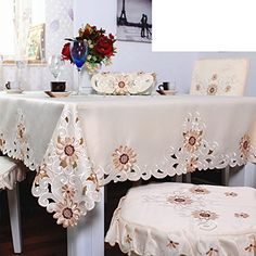 LCM European garden embroidered tablecloth fabric/ table/ table/ Gabe-A 130x175cm(51x69inch)