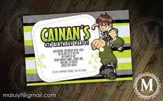 BEN 10  - DIY Printable Party Invitation