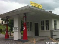 "An old gas station has been preserved as a museum along old Highway 21, in the 1930s a main conduit between the Great Lakes and Florida. H.R. Umberger's business, the ""Lakes to Florida Service Station,"" thrived through the 1950, until the road was rerouted through Wytheville and bypassed by I-77. [Julie Barnes, 05/20/2012]  Classic filling station restored and reopened in 2011 as a museum of vintage petroliana."