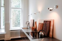 Minimalist Kitchen of Karena Schuessler — Design Art Gallerist, Apartment & Gallery, Charlottenburg & Wilmersdorf