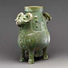 双羊尊 中国・おそらく湖南省 紀元前13〜11世紀 大英博物館蔵