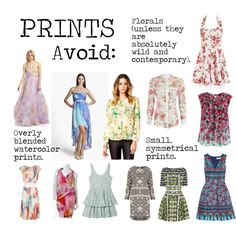 """""""Flamboyant Gamine (FG) Prints to avoid"""" by lightspring on Polyvore"""