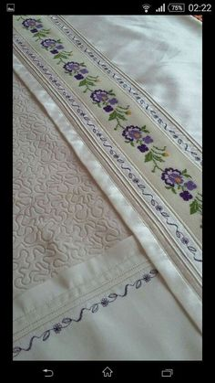 This Pin was discovered by Gül Embroidery Stitches, Hand Embroidery, Machine Embroidery, Cross Stitch Designs, Cross Stitch Patterns, Stitch Crochet, Embroidered Pillowcases, Concrete Wood, Viking Tattoo Design