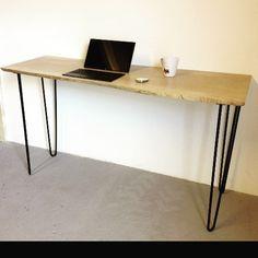 tr s beau bureau en m tal et bois diy avec les pieds ripaton et customisez vos meubles d. Black Bedroom Furniture Sets. Home Design Ideas