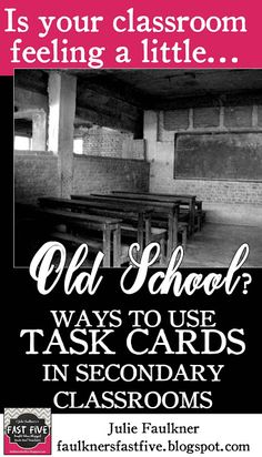 Using Task Cards at the Secondary Level, High school, middle school English – Education Instructional Strategies, Teaching Strategies, Teaching Ideas, Differentiated Instruction, Teaching Activities, Teaching Science, Teaching Resources, Middle School English, Middle School Science