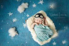Baby Pilot Hat Boy hat Newborn Aviator Hat by CrochetCoutureDesign, $29.00