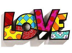 Pop Art Miami is the largest online destination for Pop Art. Buy Pop Art for artists like Romero Britto, Carlos A. Navarro, Tim Rogerson, and more. Pintura Graffiti, Graffiti Painting, Arte Pop, Word Art, Arte Country, Letter Wall Art, Mondrian, Art Plastique, Love Words