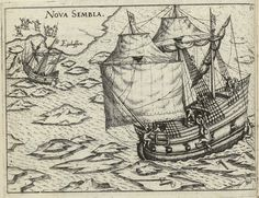 A ship from Barentsz. expedition caught in the ice near Nova Zembla in From an illustrated account from Kingdom Of The Netherlands, Sailor Outfits, Model Ships, Sailboat, 17th Century, Old World, Renaissance, Nautical, Ocean