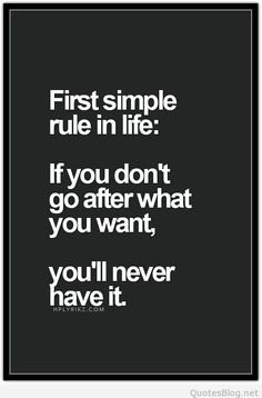 First simple rule in life