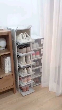 Storage Shoe Box - Made of high quality plastic board which is more sturdy and durable compared to the normal shoe box - Closet Bedroom, Bedroom Storage, Bedroom Decor, Nursery Storage, Ikea Bedroom, Bedroom Furniture, Hallway Closet, Master Closet, Design Bedroom