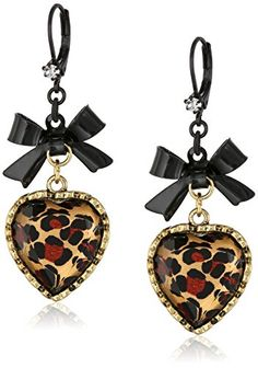 Betsey Johnson Crystal Leopard Heart and Black Bow Drop Earrings Betsey Johnson http://www.amazon.com/dp/B002SXDXME/ref=cm_sw_r_pi_dp_guSYub12G98BT