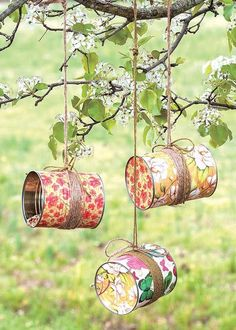 Tin Can Crafts, Fun Diy Crafts, Crafts For Kids, Quick Crafts, Kids Diy, Creative Crafts, Upcycled Crafts, Idées Mod Podge, Mod Podge Crafts