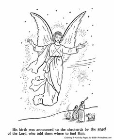 the birth of jesus new testament coloring pages angles appear to shepherds