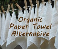 eco friendly paper towel alternative - unbleached cotton - unpaper - paperless towel