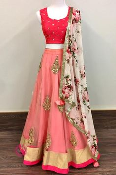 Indian fashion has changed with each passing era. The Indian fashion industry is rising by leaps and bounds, and every month one witnesses some new trend o Lehenga Designs, Choli Designs, Red Lehenga, Lehenga Choli, Bridal Lehenga, Sarees, Indian Attire, Indian Wear, Indian Dresses