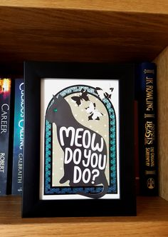 Meow do you do? (framed) - artwork by Rita Dabrowicz How To Make Paper, Framed Artwork, Beast, Collage, Shop, Handmade, Collage Illustration, Hand Made, Collages