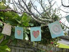 Bunting Seven French Squares ¸.•*¨✩¸ •´ ´,•*´¨♥