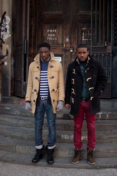 Toggle or Duffle coats from the guys at www.streetetiquette.com