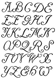 Type design information compiled and maintained by Luc Devroye. Hand Lettering Fonts, Creative Lettering, Typography Fonts, Caligraphy Alphabet, Calligraphy Letters, Printable Letters, Letter Templates, Pretty Writing, French Script