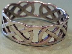 Vintage Sterling Silver Celtic Keltic Knot Band by MyYiayiaHadThat, $22.00
