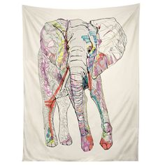 Casey Rogers Elephant 1 Tapestry