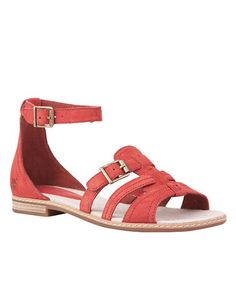 Take a look at this Dark Red Earthkeepers Darien Sandal by Timberland on #zulily today!