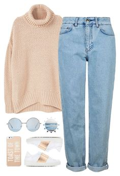 """""""Başlıksız #298"""" by young-stylist ❤ liked on Polyvore featuring MANGO, Topshop, Valentino and Kate Spade"""