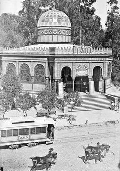 Kiosko morisco en la Alameda Central de la Ciudad de México.  Ca. 1900