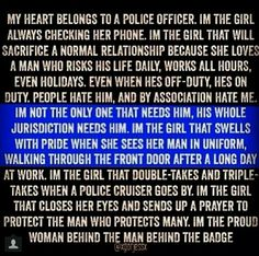 Proud police girlfriend
