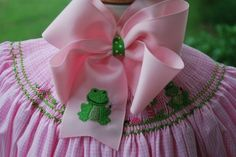 Embroidered+Frog+Fly+Hair+Bow+Boutique+Summer+by+thesouthernbaby,+$9.99
