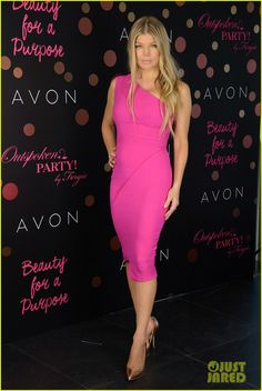 b14a729fb1f3 Fergie Reveals Her Future Baby Plans with Hubby Josh Duhamel  Photo Fergie  looks insanely sexy in a hot pink dress while launching her new Avon  fragrance